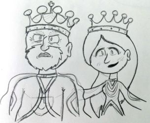 The King and Queen by rachetcartoons