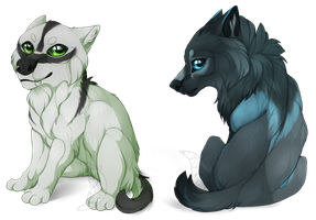 Basilysk and Seraphiel - Commissions by Nereiix