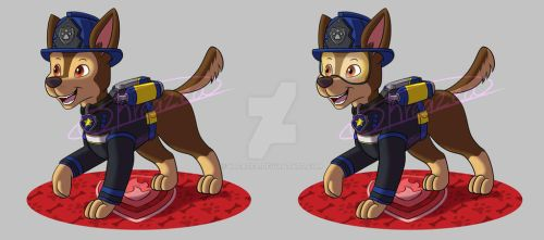 PAW Patrol Ultimate Rescue Fire Pup - Chase by kreazea