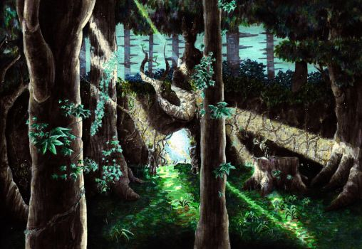 Distress deep in the Lost Woods by Amnaysia-EC