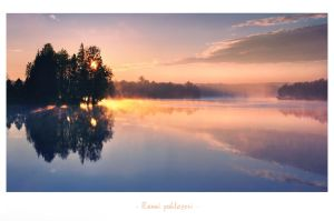 - Pond at morning - by UNexperienced