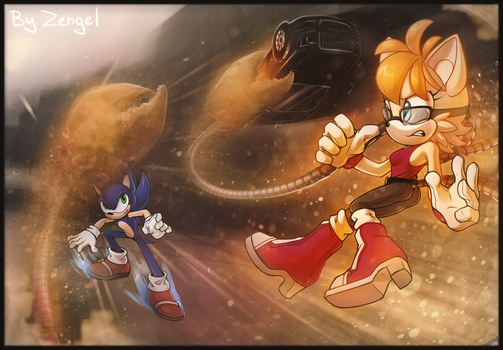 Sand Queen vs Sonic by Zengel