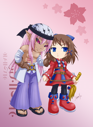 Melvin and Krile by minit