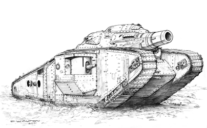 Wild Skies Europa Tempest  British Tank 1 by ChuckWalton