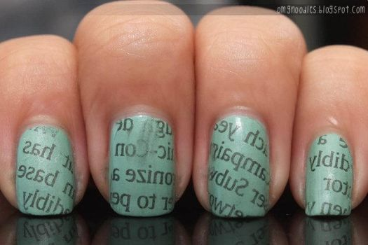 Newspaper Nails by ting--ting