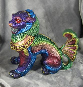 Windstone PYO rainbow foo dog by Bladespark