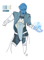 Asari Concept WIP by Spi-ritual-ity