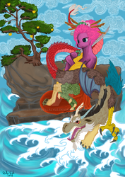 Geshia Pinkie guarding the apples of Discord by BellaLyle