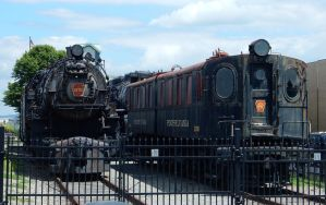 PRR K4s 3750 and DD1 3936-3937 outside RRMPA by rlkitterman