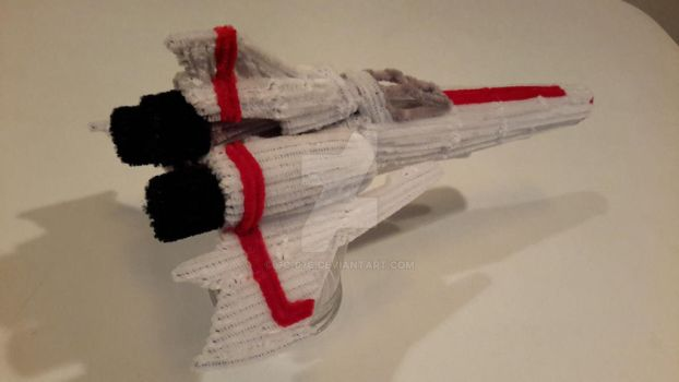 Pipe Cleaner Battlestar Galactica Viper Mark 2 - 5 by GC-07c