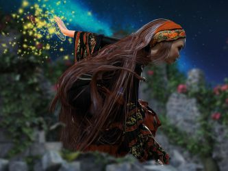 Wild Winds Outfit, Hair and Poses 3 by crenderIT