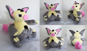 Shiny Grumpig Plush by dollphinwing