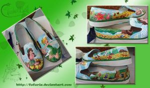 Tinkerbell and Prilla Shoes by Fufuria