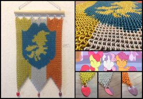 Cutie Mark Crusaders Chainmaille Banner by Ignition4596
