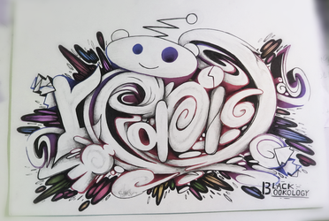 Graffiti sketch battle word REDDIT by SmecKiN