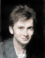 David Tennant colored by Sock-Monkey-Renegade
