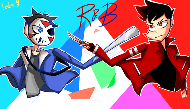 RED AND BLUE by PowerUPCanteenPFDA