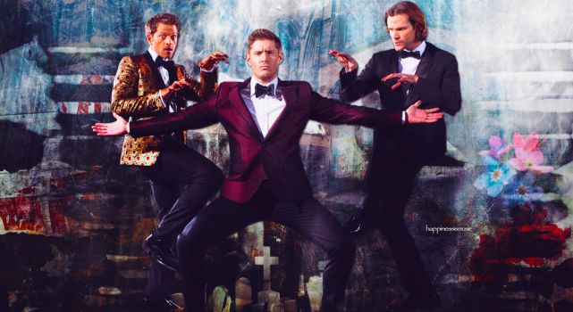 Jared, Jensen and Misha wallpaper 02 by HappinessIsMusic
