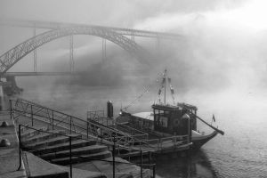 Misty morning by the Dom Luis I Bridge by NunoCanha