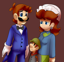 Christmas Carol: the cratchit  family by BaconBloodFire