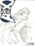 Marvel Sketch Cover: Emma Frost by Ace-Continuado