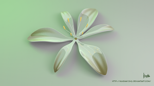 3d Flower : Glossy Anthericum Liliago by kaichi1342