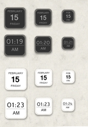 2 Tone Clock and Date 1.0.0 by Nexion36
