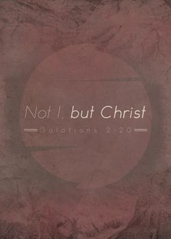 Not I, but Christ by Blugi