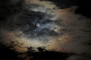 Low Clouds over the Moon by dePow9999