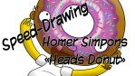 Speed-Drawing Homer Simpson Heads Donut by Jonas-D