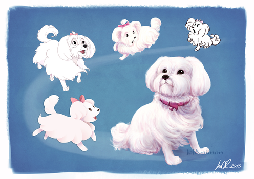 Dog Designs ~Maltese by animon