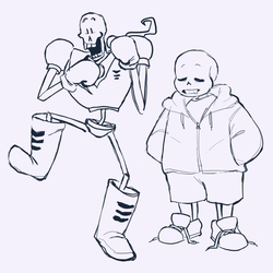 skelebros sketches by knightic