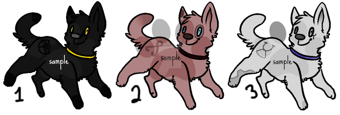 Wolves/Dogs Adoptables -OPEN- by Adoption-R-Us