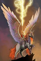 shera and swiftwind...and i cant believe i drew it by nebezial