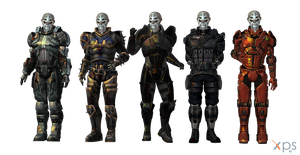 Batarian Male Armours for XPS by Just-Jasper