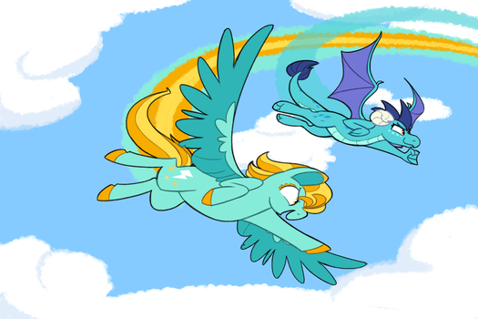 Shimmer Verse: Pony vs Dragon by Selective-Yellow