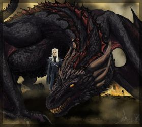 Daenerys and Drogon by Seyward