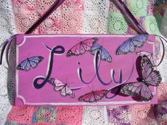 Lily Baby name sign by cldart