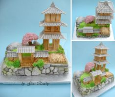 Ornamental Temple Cake