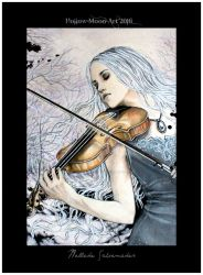 The Violinist by Hollow-Moon-Art