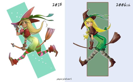 Draw it again! Witch from 2006 by Paper-Plate