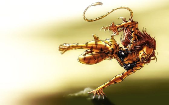Tigra - Ikharion colors by SpiderGuile