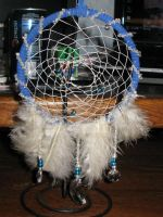 White Crystal Dream Catcher by BigArtBabe
