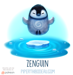 Daily Paint 1580. Zenguin by Cryptid-Creations