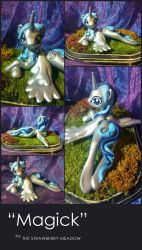 Magick : A My Little Pony OC Sculpt Commission by StrawberryMeadow
