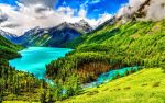 Beautiful Light Blue River and Mountain Wallpaper by ROGUE-RATTLESNAKE