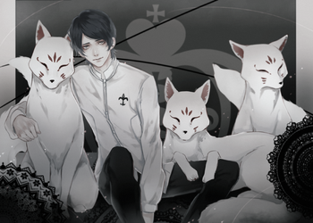 four lil foxes by sayuuhiro