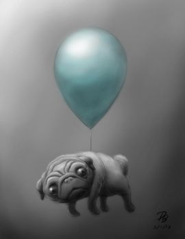 Flying Pug by TheDude-In-NavyBlue