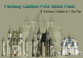 Fantasy Castle PNG Stock Pack by Roy3D