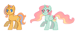 [2/2 OPEN] $2 Pony Adopts by Moonrose95